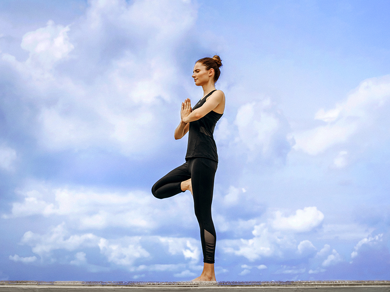 Female activewear yoga outfits and sports clothing